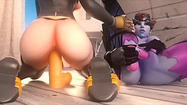 Overwatch, Tracer, Widowmaker Part 2 3d Animation Compilation [10 min + Full HD]