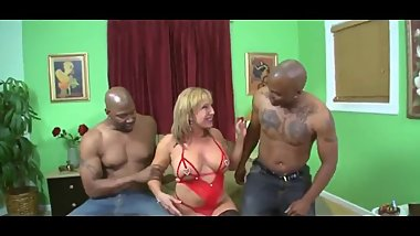 Latina Granny Takes On 2 BBCs for her Birthday
