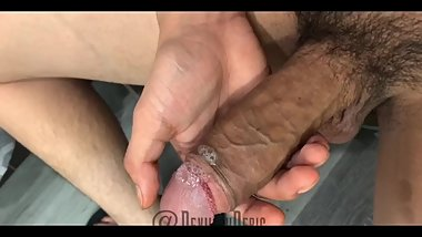 Snapchat guy spitting and jacking off big thick cock - @DevilishDeric