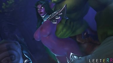 TYRANDE IS FUCKED BY ORK SFM HD PORN WITH SOUND+MUSIC