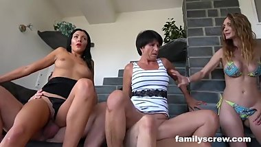 StepSisters Acting like Whores - Stepfamily Sticks Together