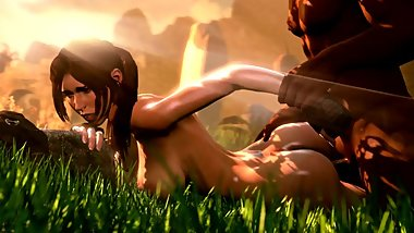Slow and Sensual Sex of Lara Croft during Excavation Tomb Raider 3d Animation [10 min + Full HD]