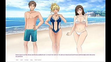 Swing&Cuckold. Double Date, Wife Sharing On Public Beach-Ep 13