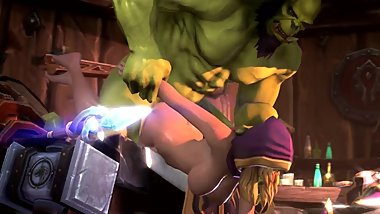 Jaina and Thrall having Hard Deep Sex Behind World of Warcraft 3d Animations [10 min + Full HD]